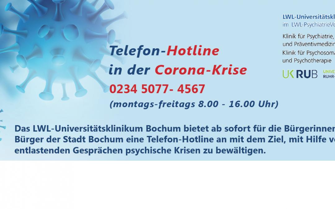 Telefon-Hotline in der Corona-Krise – LWL-Universitätsklinikum Bochum