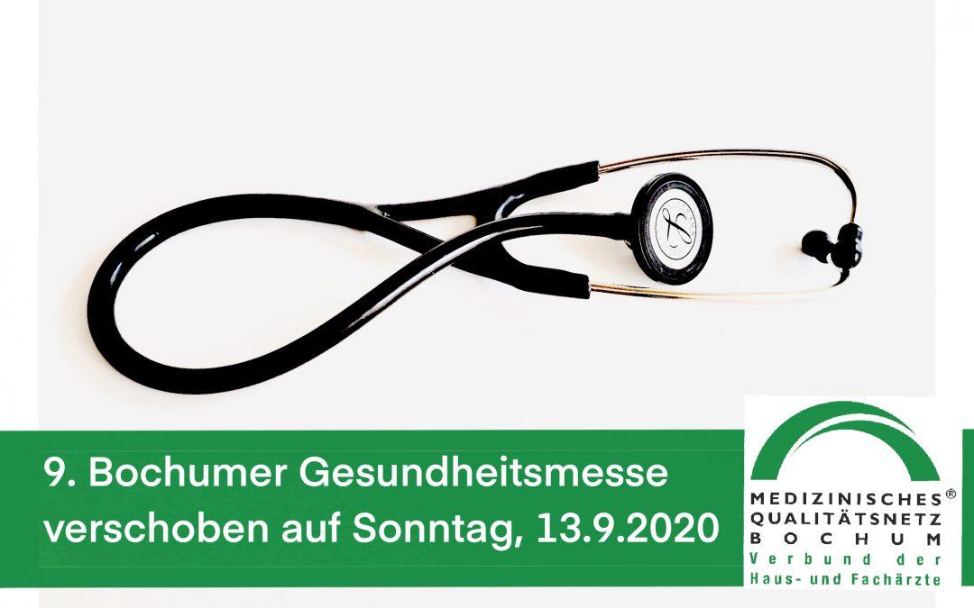 Coronavirus: Die 9. Bochumer Gesundheitsmesse ist auf den 13.9.2020 verschoben
