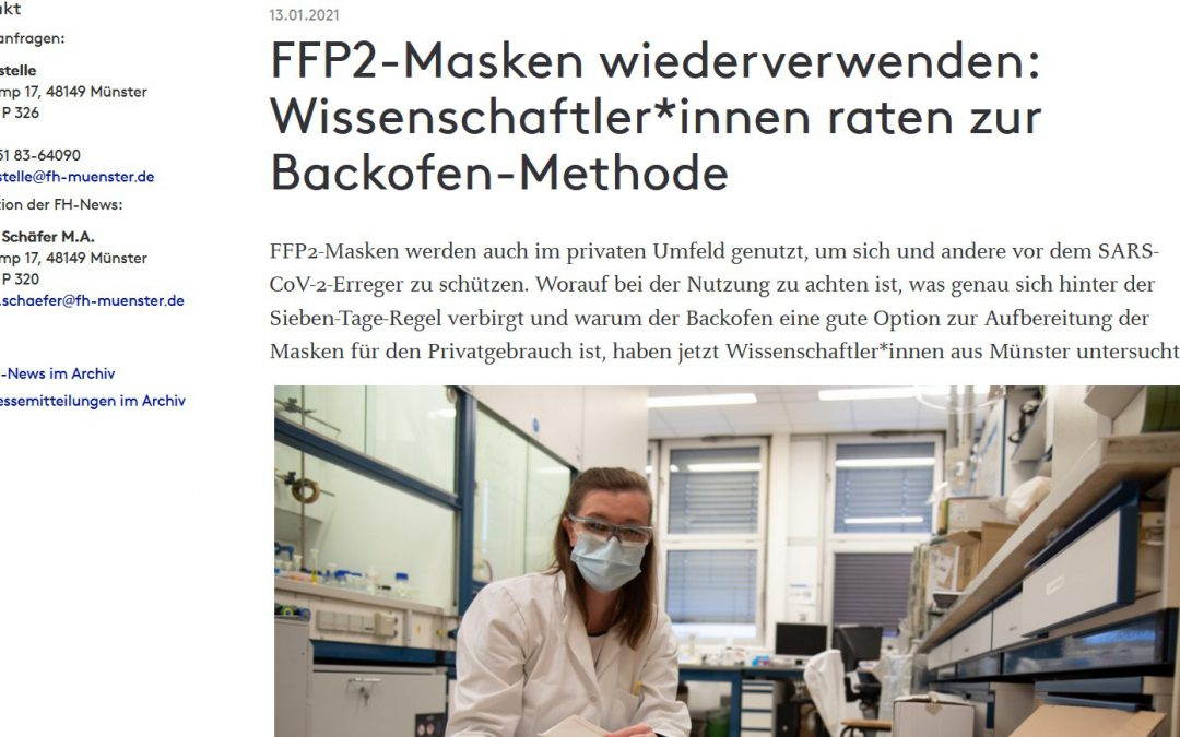 Über FFP2-Masken – und ob sie wiederverwendbar sind