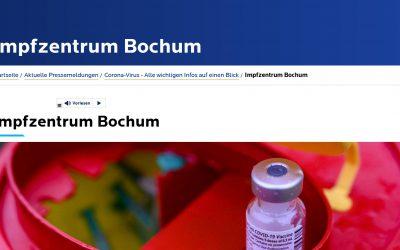 Impfstart im Impfzentrum Bochum verschoben
