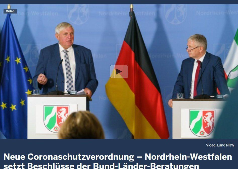 Neue Corona-Schutzverordnung NRW